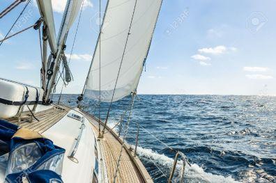 Hoisting Yacht Sails